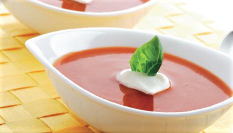 Tomatensuppe mit Dinkelreis